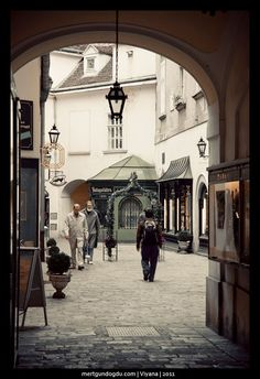 Empty streets of Vienna, Vienna, Austria