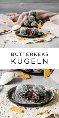 Shortbread Balls - Bombice - Ahalni Sweet Home- Butterkeks Kugeln – Bombice – Ahalni Sweet Home Butter Biscuit Balls Donut Recipes, Cookie Recipes, Snack Recipes, Dessert Recipes, Snacks, Chocolat Halloween, Homemade Desserts, Fall Desserts, Ice Cream Recipes