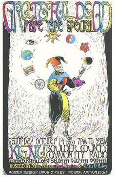 VINTAGE GRATEFUL DEAD ARTWORK www.junkfoodclothing.com