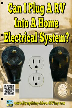 Yes you can hook up an RV to electric in the house but...