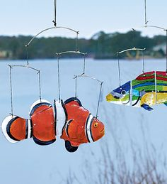 Glass Fish Mobiles