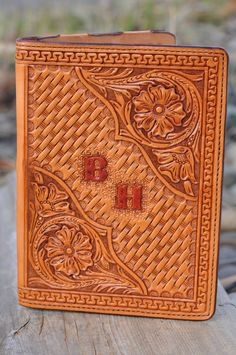 Hand tooled leather Ipad Air case by FeatherRiverLeather on Etsy, $255.00