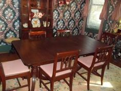 Vintage Mahogany Dining Room Set Photos And Information In AncientPoint