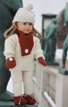 American girl doll knitting patterns Love the Aran Sweater More