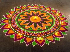 Beautiful rangoli for Pongal