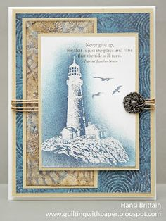 CTMH Majestic Blue paper and Perfect Day stamp set card at Heart 2 Heart Challenges by Hansi Brittain