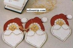 CENTRO MESA HECHO CON CARITAS DE SANTA ( sacas los patrones ampliando esta imagen)  -  Manualidades centros de mesa navideños ~ Solountip.com