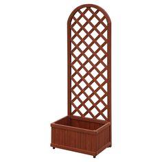 Convenience Floor Garden Planter Box Rectangle Brown - 11.75