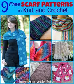 9 free scarf patterns in knit and crochet