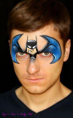 Batman face painting design
