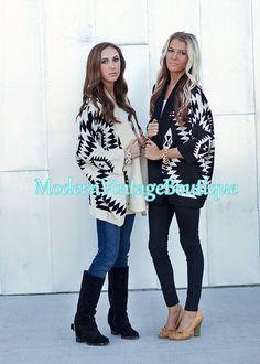 Modern Vintage Boutique - The Aspen Aztec Sweater in Black, $46.00 (http://www.modernvintageboutique.com/the-aspen-aztec-sweater-in-black.html)