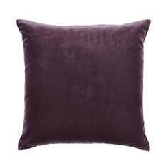 """$50 Plum Signature Velvet & Linen Pillow - 20"""""""