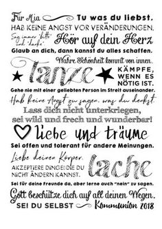 """Print """"Divine Message,"""" personalized poster as a gift for confirmation/confirmation/communion Presents For Girls, Gifts For Girls, Cute Text, Personalized Posters, Maila, Kids Poster, Poster Print, Feeling Happy, Diy Crafts To Sell"""
