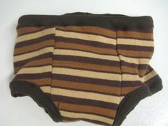 Brown Stripes Cloth and Bamboo Potty Training Pants - Size 18M-2T by TawnyBee for $12.00