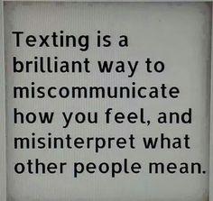 Communication breakdown.
