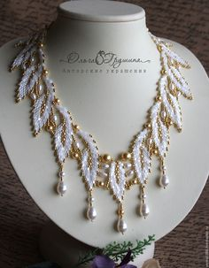 How to Make A Long Beaded Necklace at Home Beaded Necklace Patterns, Beading Patterns, Beaded Necklaces, Bead Jewellery, Seed Bead Jewelry, Bead Crafts, Jewelry Crafts, Seed Bead Necklace, Beads And Wire