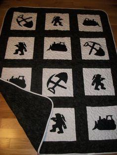 coal miner quilt pattern squares free | Linda's Krazy Krafts