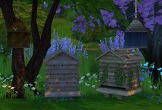 Lana CC Finds - Bee Hives by The Shed
