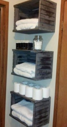 43 Creative DIY Hanging Towel Storage Designs Ideas For Bathrooms - . - 43 Creative DIY Hanging Towel Storage Designs Ideas For Bathroom – Creative DIY Hanging Towel Sto - Hang Towels In Bathroom, Bathroom Towel Storage, Hanging Towels, Diy Hanging, Bathroom Organization, Storage Ideas For Bathroom, Towel Shelf, Bath Storage, Diy Bathroom Decor