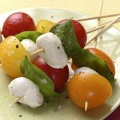 Tomato-Basil Skewers - EatingWell.com