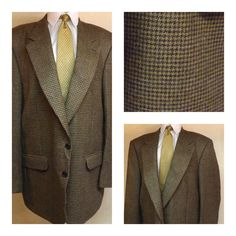 70's Mens Green Cotton Sport Coat by Sir Walter Size 38 R | Coats