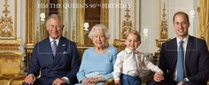 Daily Mail: The Queen, Prince Charles, Prince William and little.: Daily Mail: The Queen, Prince Charles, Prince William and little…