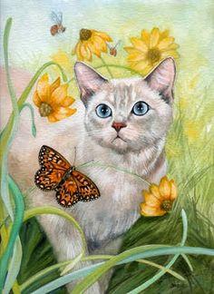 Cat Art... =^. ^=... ❤... The Wanderer... By Artist Denise Freeman...