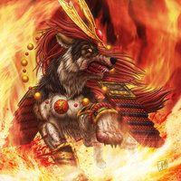 Warrior Wolf by SheltieWolf on DeviantArt Wolf Character, Anime Wolf, Fantasy Illustration, Magical Creatures, Online Art Gallery, Fantasy Art, Lion Sculpture, Fan Art, Statue