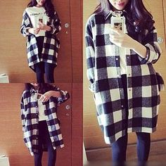 Buy 'QZ Lady – Oversized Flannel Shirt' with Free International Shipping at YesStyle.com. Browse and shop for thousands of Asian fashion items from China and more!
