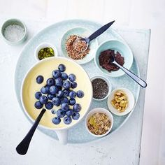 Mangoyoghurt met blauwe bessen #WeightWatchers #WWrecept #zeroPoints