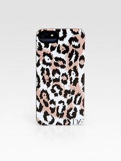 Diane von Furstenberg - Leopard Print iPhone 5 Case - Saks.com - $40