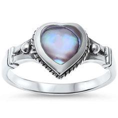 Celtic Design Heart Ring 925 Sterling Silver Choose Color Heart Promise Ring $7.74