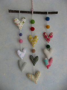 Afbeeldingsresultaat voor fabric hearts mobile