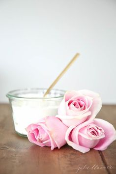 Rose milk bath on Better Homes and Gardens homemade bath products