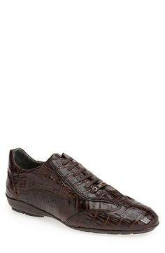 Mezlan 'Glasgow' Crocodile Leather Sneaker (Men) available at #Nordstrom