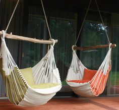 Hammock chair is made in Latvia from natural materials. Designed in Eco style.The crossbar comes from wild beaches of Baltic Sea and is individually selected for each chair. Perfect for reading books during leisure time – a unique product by Chilloutchair via en.DaWanda.com #swing #chill #rope