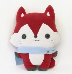 Kitsu Fox - Kawaii Pillow Plushie by TeacupLion.deviantart.com on @deviantART