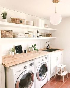 35 Amazingly Inspiring small laundry room design ideas For Small Spaces - , , Th. - 35 Amazingly Inspiring small laundry room design ideas For Small Spaces – , , The Effective Pictu - Laundry Room Organization, Laundry Room Design, Laundry Decor, Storage Organization, Storage Shelves, Shelving Ideas, Small Shelves, Storage Ideas, Room Shelves