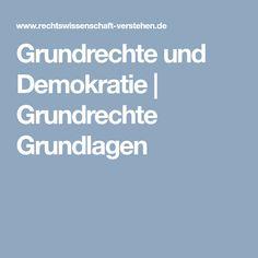 Grundrechte und Demokratie | Grundrechte Grundlagen