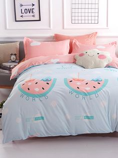 2 0m 4pcs Cloud Print Bed Sheet Set In 2019 Baby Room Ideas