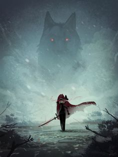 Red Hood and the Wolf by Porforever.deviantart.com on @DeviantArt