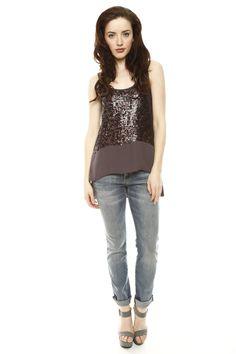 Jeans + Sequin Tank Top