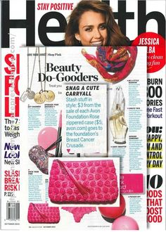 We just wrapped the Avon Walk for Breast Cancer in NYC and to keep the buzz going, the beauty editors at Health.com rounded up their favorite products that are doing some good! We spy the Avon Foundation for Women Rose Zippered Case.