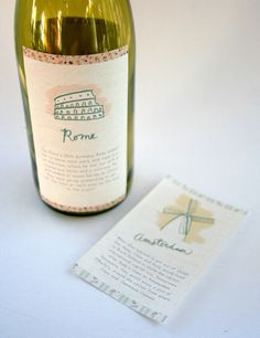 Custom wine labels. Love.
