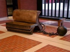 Sitting On History by Bill Woodrow, British Library, London 2003
