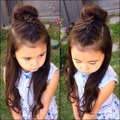Beautiful easy hairstyles for school! Beautiful easy hairstyles for school! Girls Hairdos, Cute Little Girl Hairstyles, Baby Girl Hairstyles, Princess Hairstyles, Hairstyles For School, Pretty Hairstyles, Teenage Hairstyles, Kids Hairstyle, Hair For Little Girls