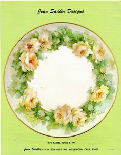 Pastel Roses 70 by Jean Sadler China Painting Study 1975 | eBay