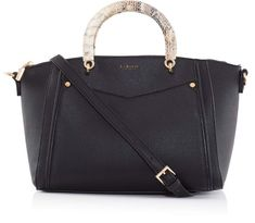 LaBante.Womans Swift vegan black leather tote bag for £58.50
