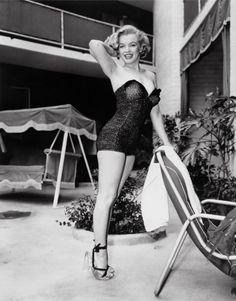 Frank Worth, Marilyn Monroe Standing Poolside