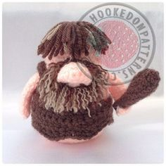 Caveman Gonk - A Free Crochet Pattern for the original Santa Gonk. Follow 'A Gonk's Journey' at Hooked On Patterns for more!